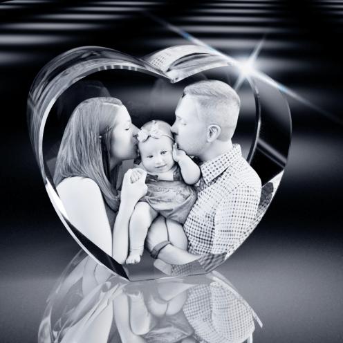 3D Crystal Heart
